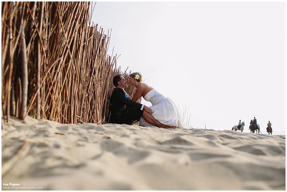 Belgian beach wedding