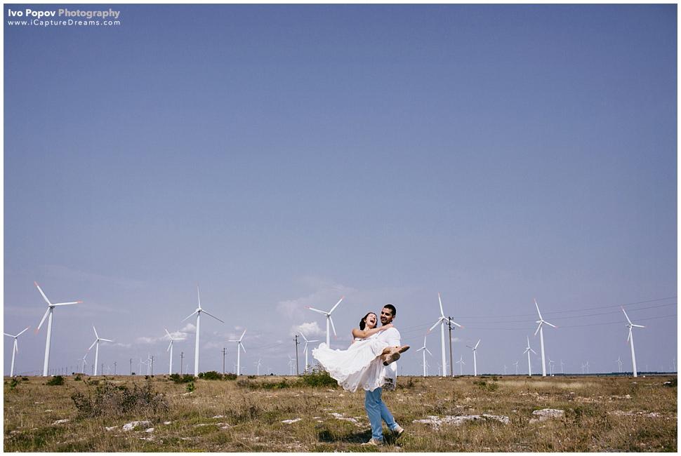 Windmills wedding image