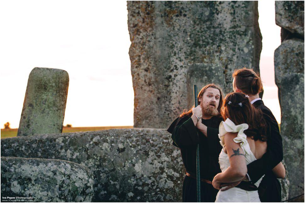 Druid wedding ceremony