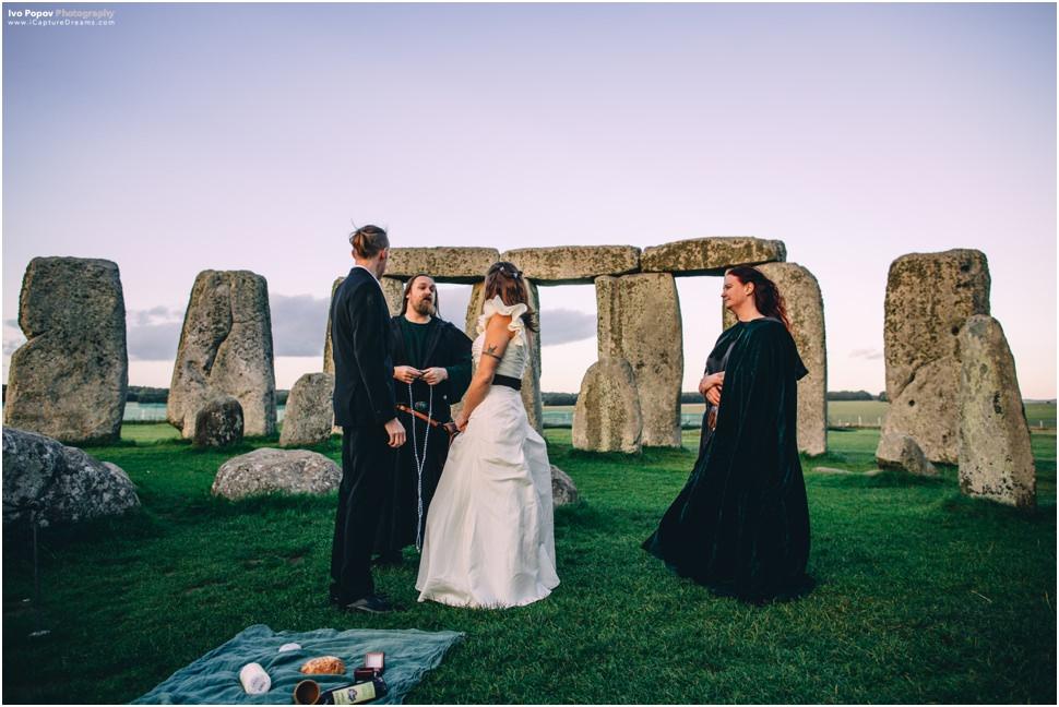 Wedding ceremony in Stonehenge