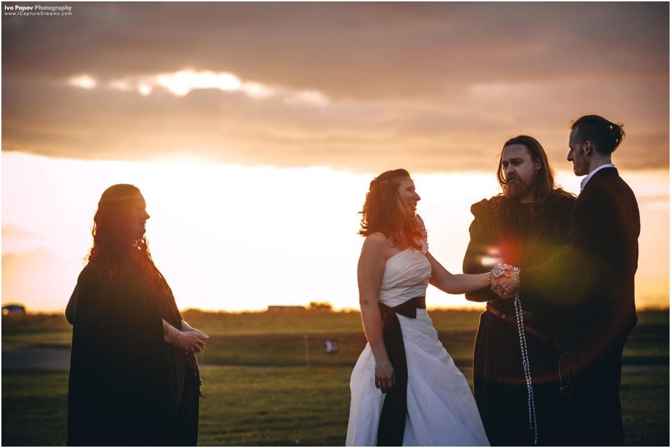 Sunset Stonehenge Wedding