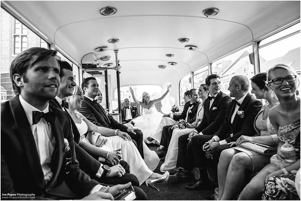 Huwelijksfotograaf Vlaanderen Bus