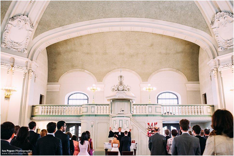 Church wedidng ceremony
