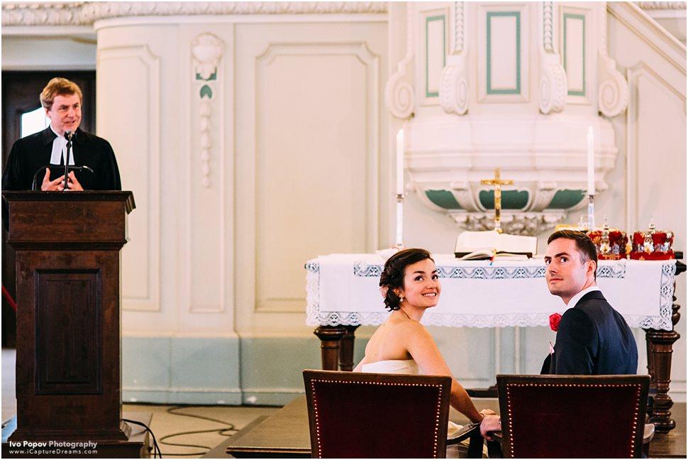 Wedding ceremony in cgurch