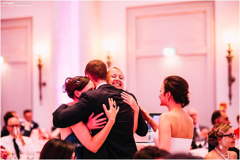 Group hug wedding