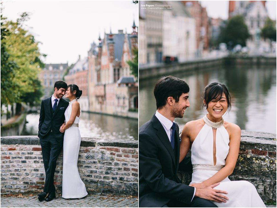 Romantic wedding in Bruges