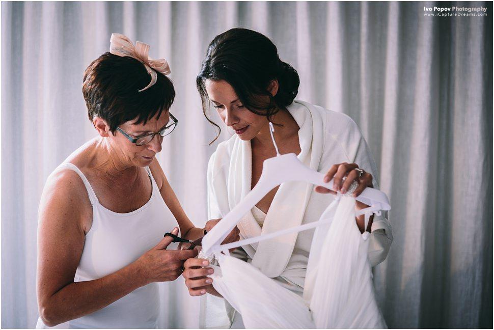 Bride getting ready in Ghent, Belgium