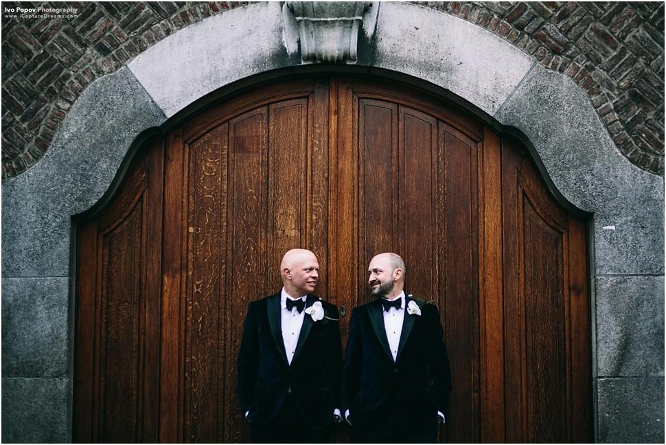 Romantic portraits same sex couple Belgium