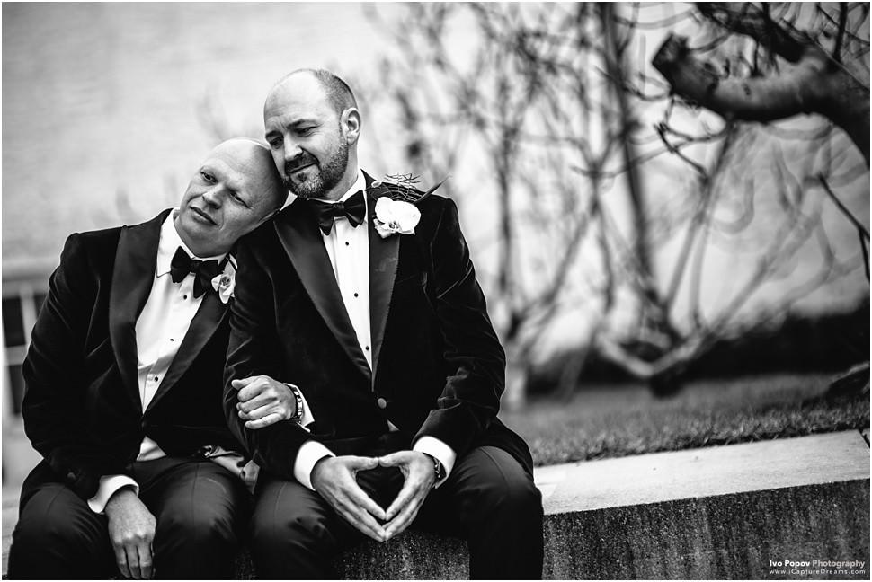 gay couple on a wedding in Mechelen, Belgium