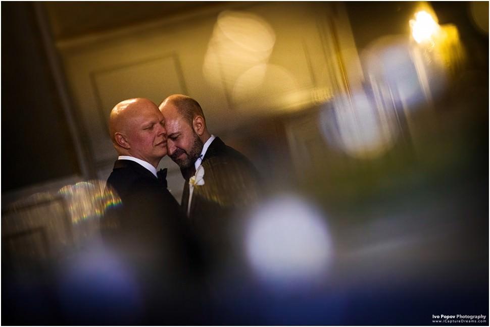 romantic same sex wedding portrait in Belgium
