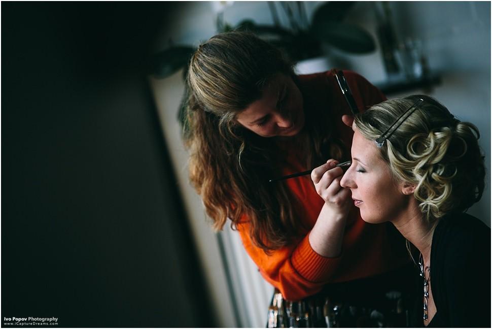 Bride makeup in Grimbergen