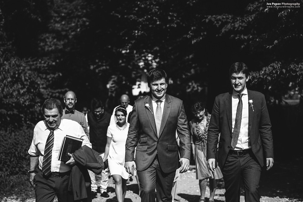 Groom approaching the ceremony location