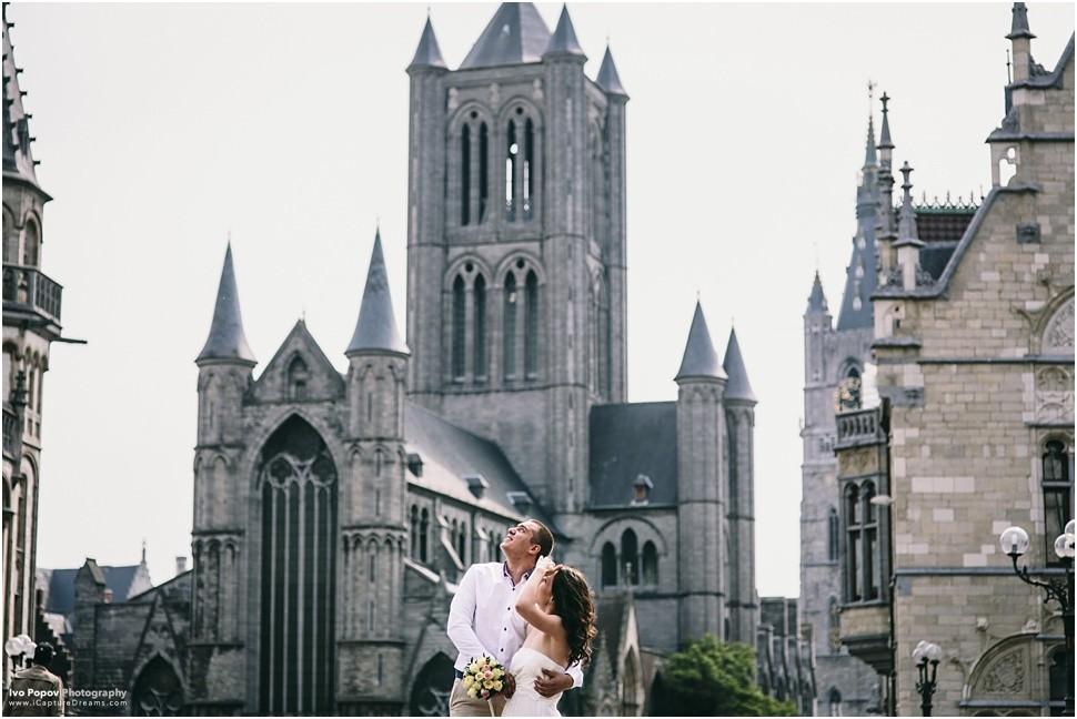 Wedding on St Michael's Bridge Gent