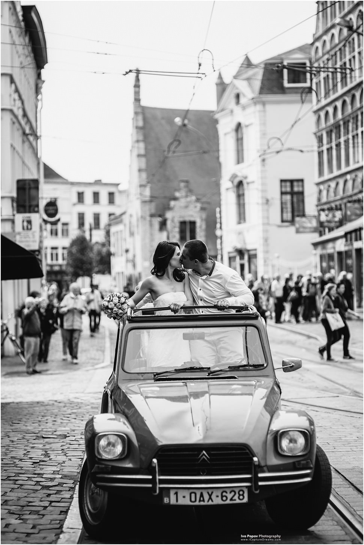 Huwelijk in Gent oldtimer