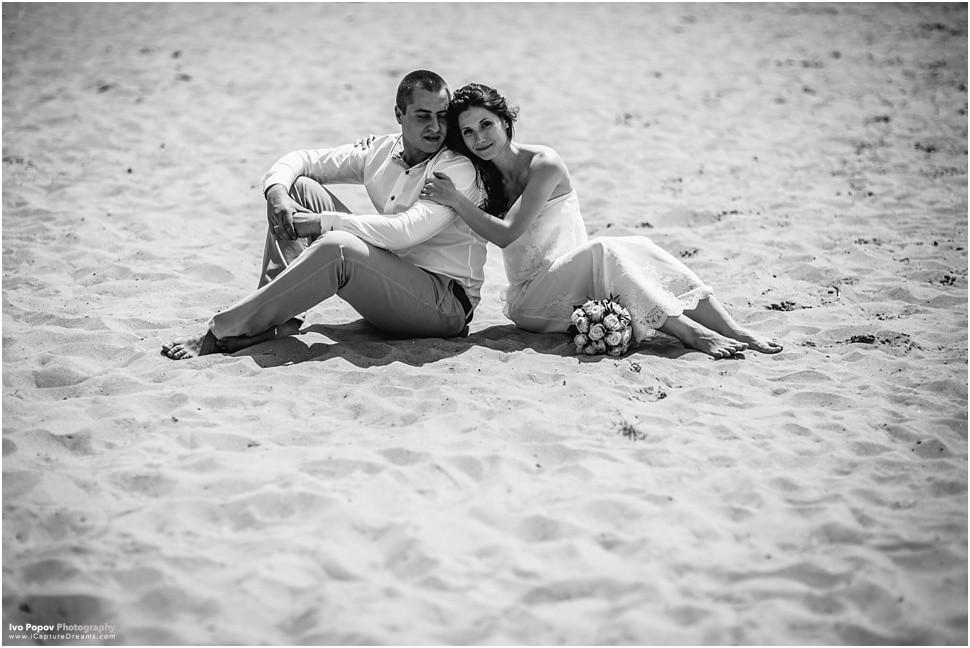 Gent cute beach wedding