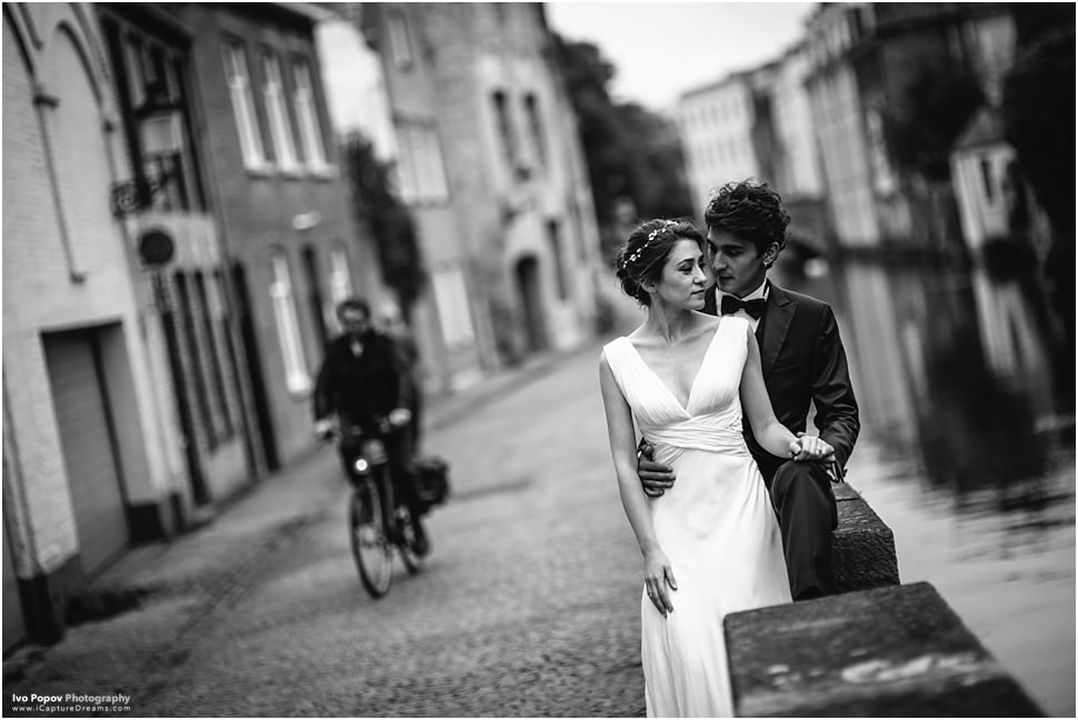 Romantic wedding images in Bruges