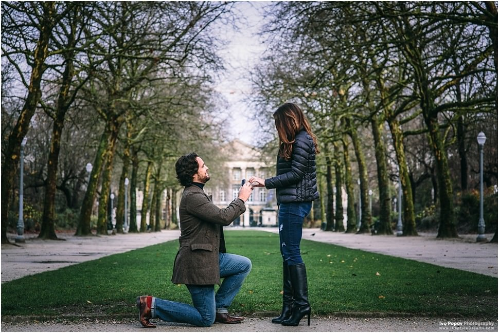 Wedding proposal in Brussels by Ivo Popov Photography