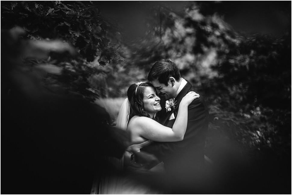 Bride and Groom in Love in a forest in Zandhoven, Belgium