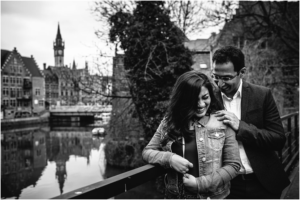 Engagement photo session in Ghent // Shreya and Sid