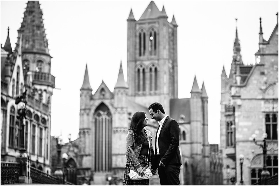 Engagement photo session in Ghent