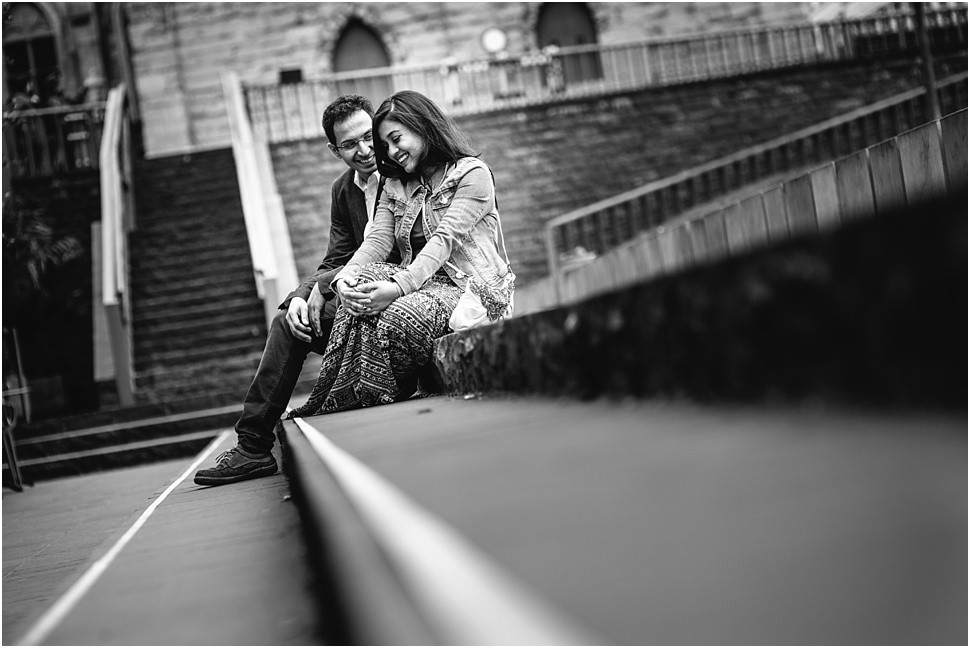 Romantic engagement pictures in Ghent