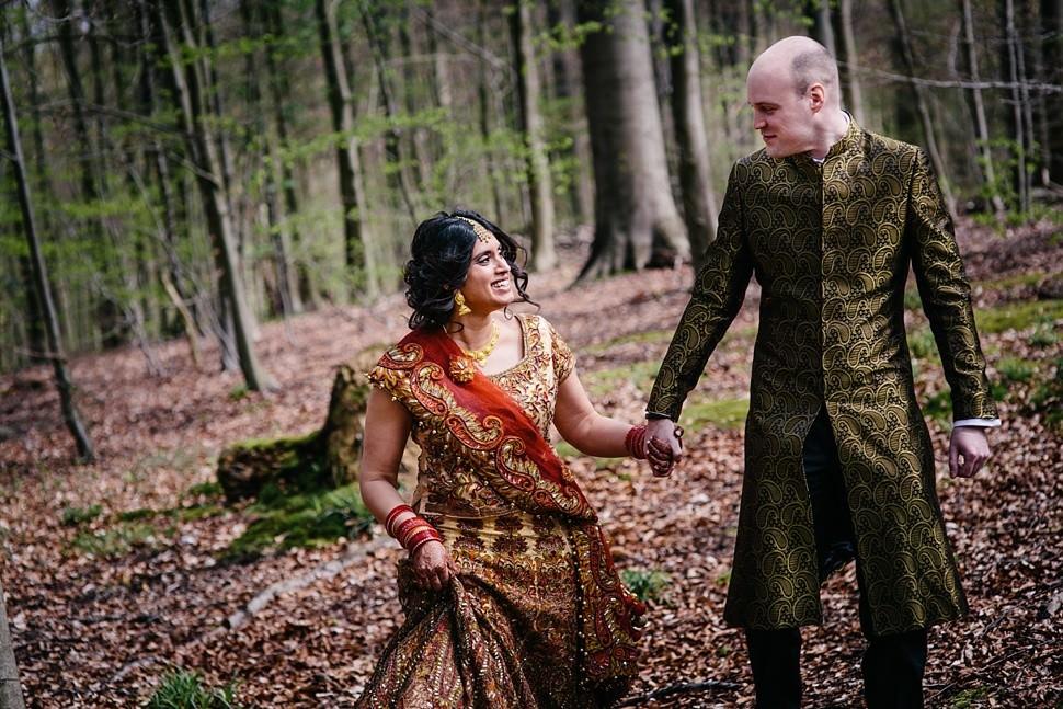 Beautiful couple during Indian wedding in Belgium