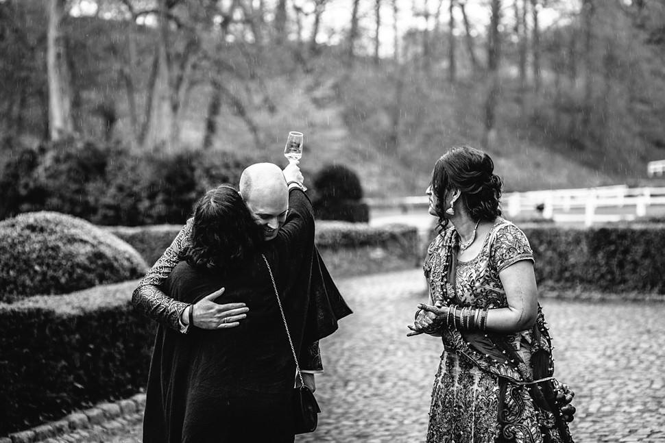 Rainy wedding day in Belgium