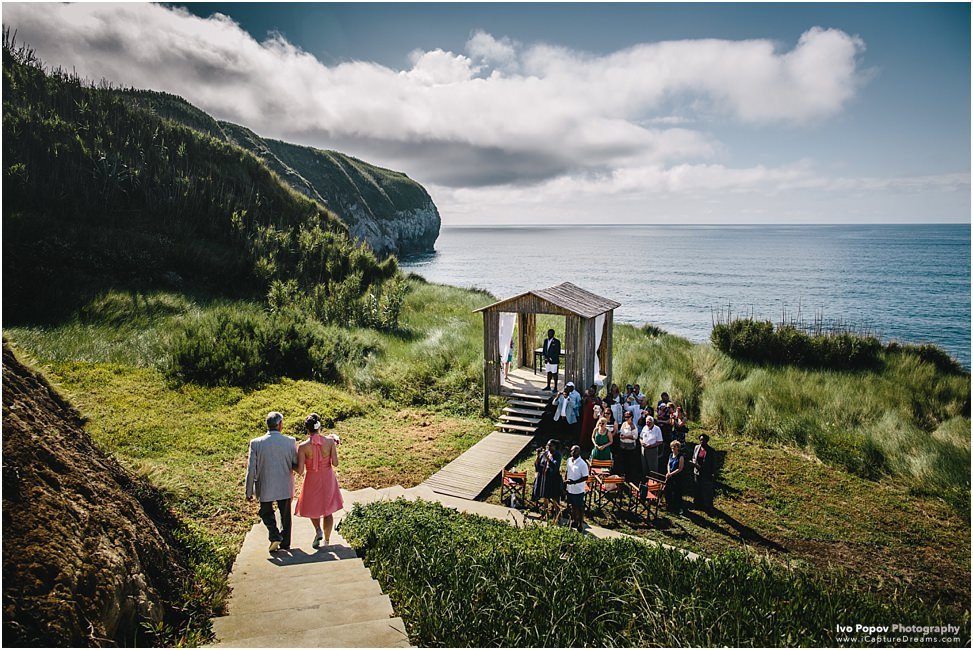Destination wedding on Sao Miguel island, Azores