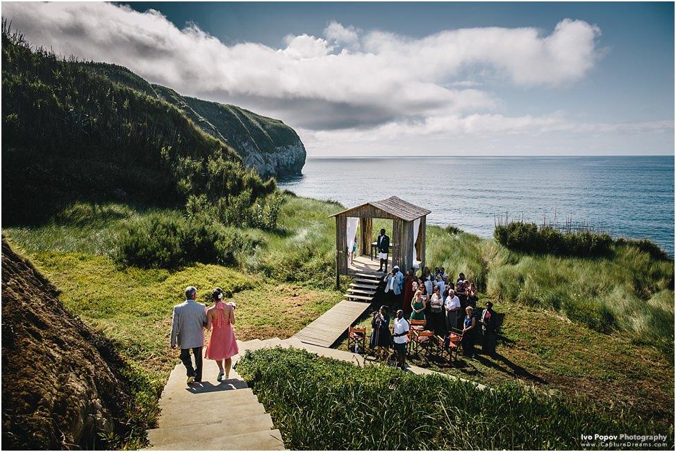 Destination wedding on Sao Miguel island, Azores