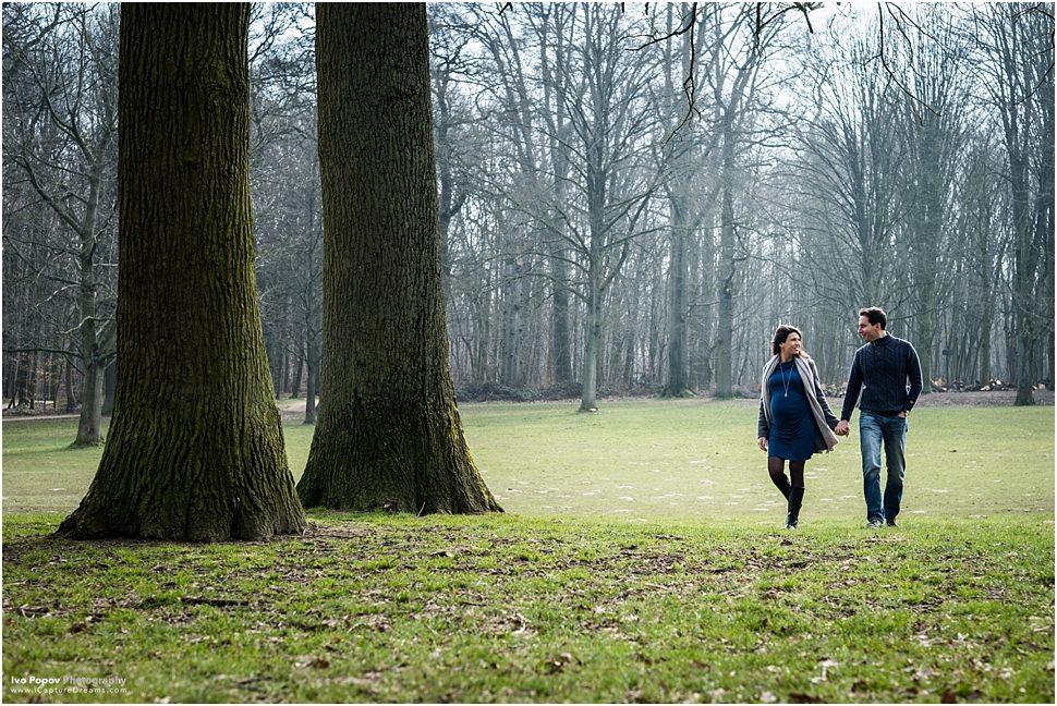 Maternity session in Bois de la Cambre in Brussels