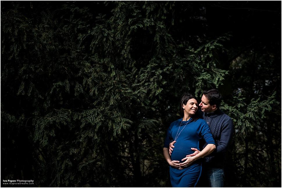 Maternity session in Bois de la Cambre