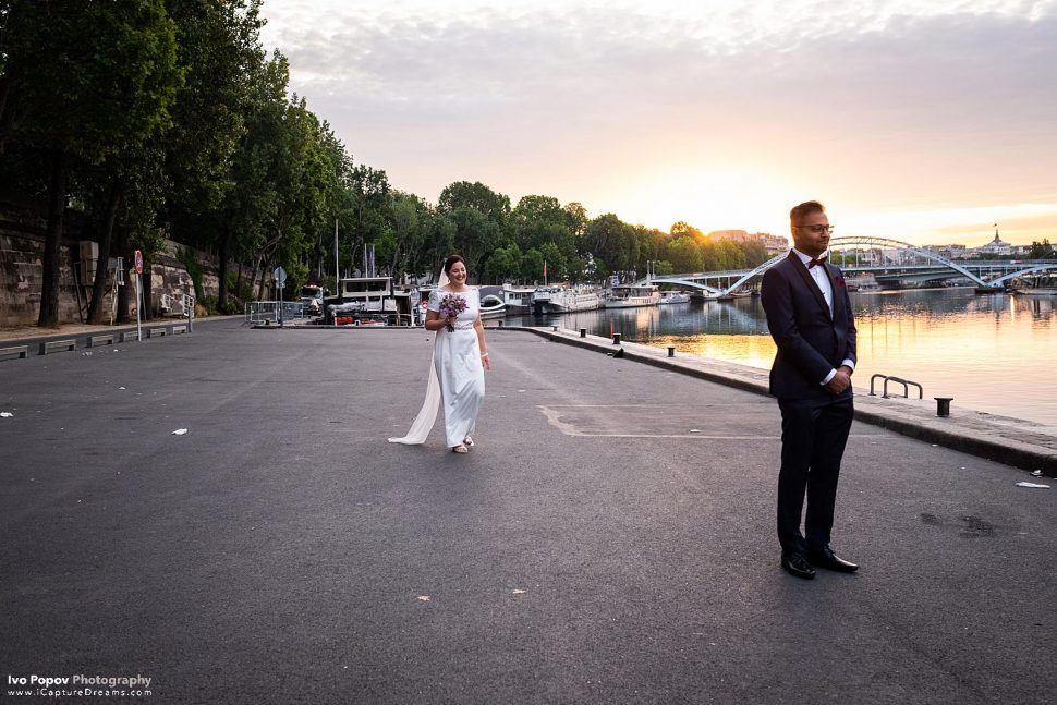 First look in Paris at the Seine river