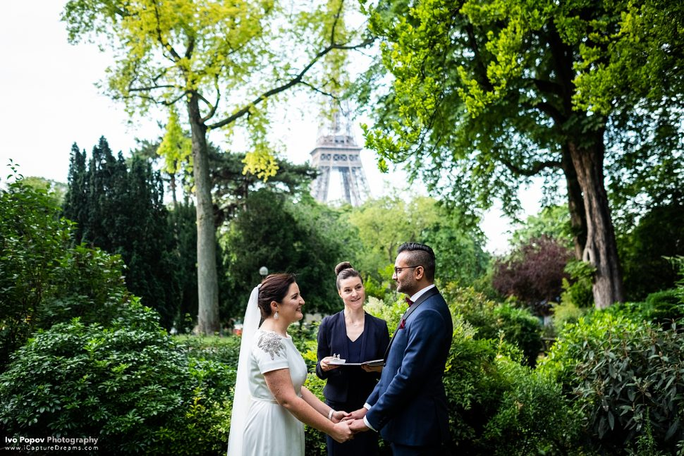 Wedding ceremony in Paris